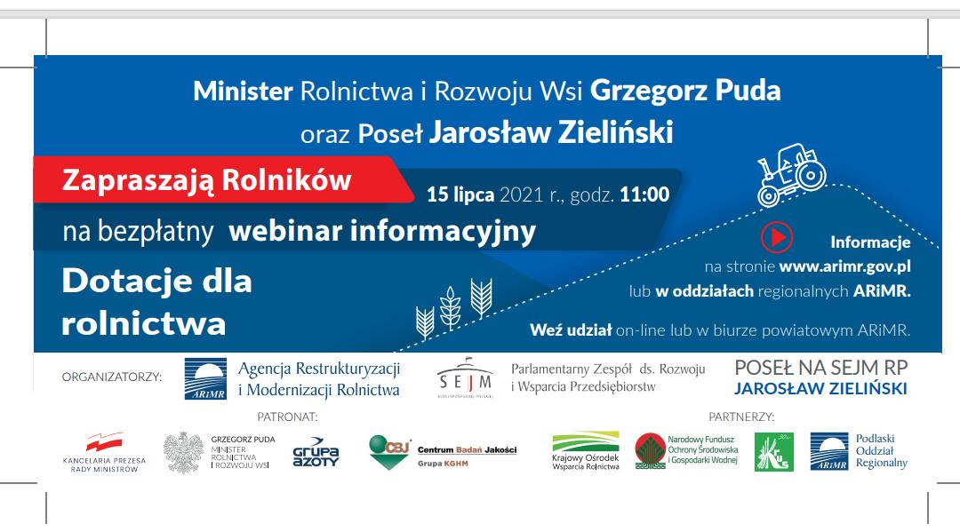 O pomocy dla rolników – ogólnopolski webinar już w połowie lipca