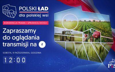 Zapraszamy na konwencję Polski Ład dla Polskiej Wsi